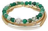 Kenneth Cole New York Semiprecious Green Bead Bracelets in a Gift Box- Set of 3