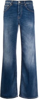 Dondup Faded Wide-Leg Jeans