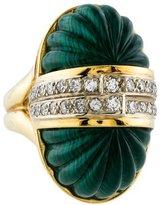 Ring 18K Malachite & Diamond