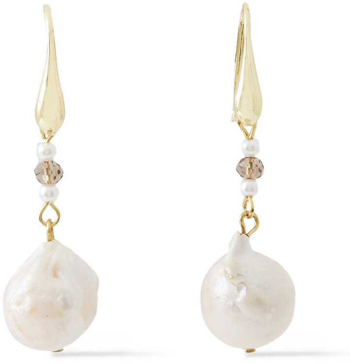 Kenneth Jay Lane Gold-plated, Faux Pearl And Bead Earrings
