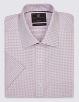 M&s Collection Pure Cotton Non-iron Shirt With Pocket