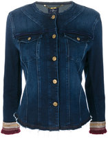 7 For All Mankind frayed hem and tassel sleeve detailed jacket