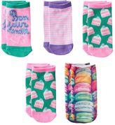 Pink Cookie Girls 5-pk. Macaron No-Show Socks