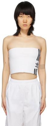 adidas White Tube Tank Top