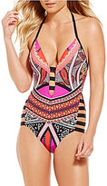 Kenneth Cole New York Without Borders Plunge Push-Up Mio One-Piece