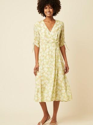 Great Plains Speckle Blossom Dress In Citrus Haze - 10
