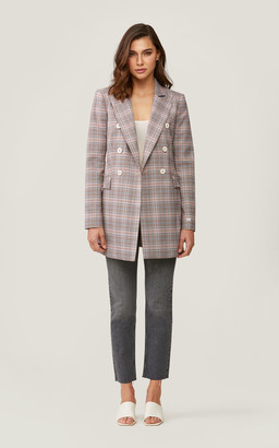 Soia & Kyo FLORIANA double-breasted checkered coat