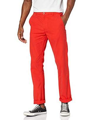 Urban Classic Men's Chino Pants Trousers, (red 199), W