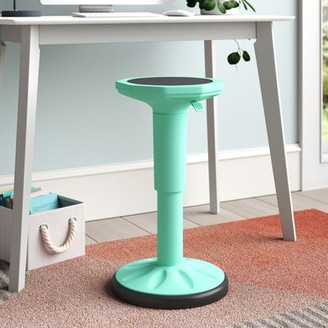 Trule Daniels Wobble Chair Height Adjustable Active Learning Stool Sitting Home Office Green Seat Finish: Teal