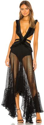 PatBO Cutout Mesh Beach Dress