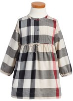 Burberry Toddler Girl's 'Emalie' Check Cotton Flannel Dress