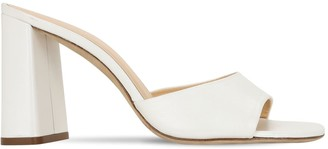 BY FAR 90mm Juju Pearl Leather Sandals