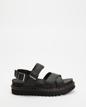 Dr. Martens Women's Black Strappy sandals - Voss II Sandals - Women's - Size 5 at The Iconic