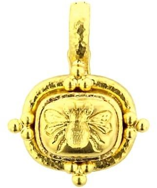 Elizabeth Locke Fat Bee 19K Yellow Gold Pendant