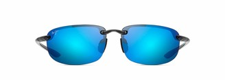 Maui Jim Sunglasses | Ho'Okipa Reader B807-1125 | Trans Smoke Grey Sport Frame Frame Polarized Blue Hawaii Lenses with Patented PolarizedPlus2 Lens Technology