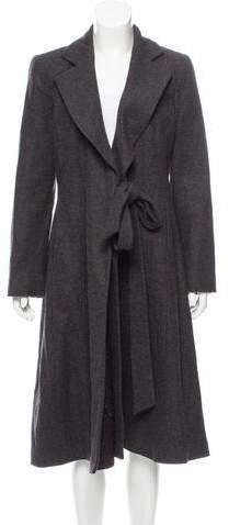 Armani Collezioni Long Wool Coat