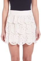 Michael Kors Ruffled Lace Skirt