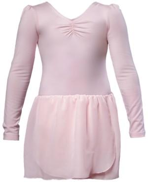 Flo Dancewear Long-Sleeve Skirted Leotard, Little Girls & Big Girls