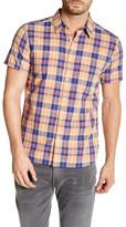 Lucky Brand Ballona California Fit Short Sleeve Plaid Woven Shirt