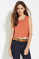 Forever 21 Contemporary Button-Back Crop Top