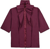 Lanvin RUFFLE-TRIMMED TECH-TAFFETA COAT-PURPLE SIZE 10