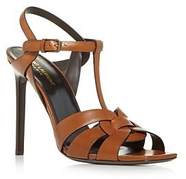 Saint Laurent Women's Tribute T Strap High Heel Sandals
