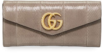 Gucci Broadway Medium Snakeskin Evening Clutch Bag
