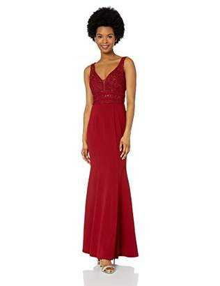 Speechless Junior's Sequin Bodice Full-Length Trumpet Prom Dress