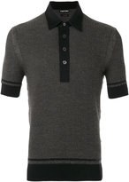 Tom Ford textured jaquard polo shirt - men - Silk/Cotton/Cashmere - 48