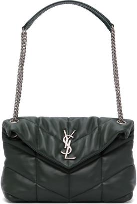 Saint Laurent Green Small LouLou Puffer Bag