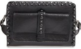 Valentino Rockstud Rolling - Noir Leather Crossbody Bag