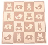 Tadpoles 16-Piece Playmat Set - Teddy and Friends in Brown