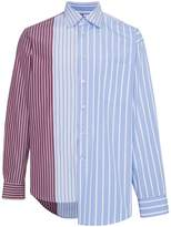 Marni stripe panel asymmetric shirt