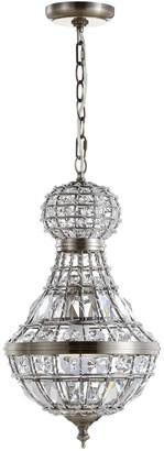 Jonathan Y Designs Regina 12In Crystalmetal Empire Led Chandelier