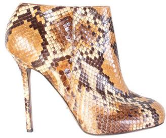 Sergio Rossi Brown Python Skin Heel Boots Size 40