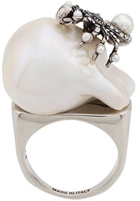 Alexander McQueen spider pearl ring