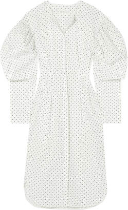 Georgia Alice Polka-dot Cotton Midi Shirt Dress