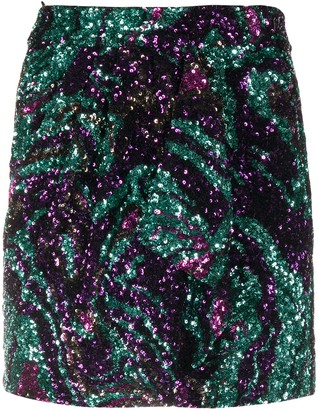 Amen Glitter-Effect Mini Skirt