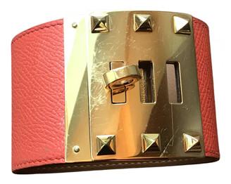 Hermã ̈S HermAs Kelly Orange Leather Bracelets