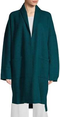 Eileen Fisher High-Low Wool Cardigan