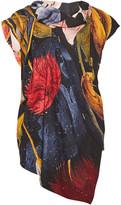 Vivienne Westwood Cave Draped Floral-Print Gauze Top