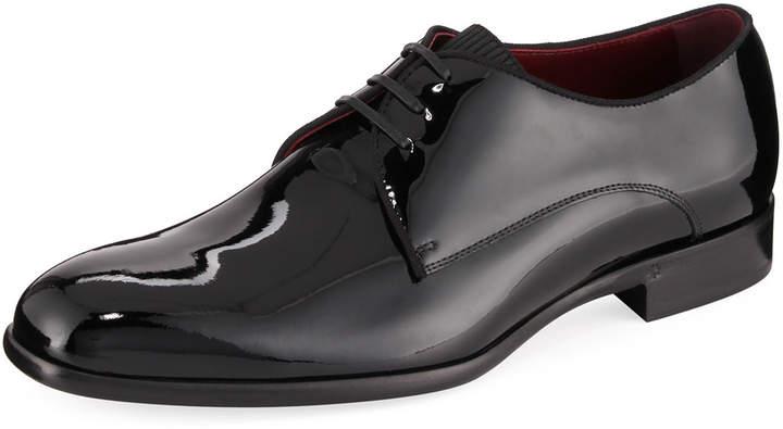 Dolce & Gabbana Men's Patent Lace-Up Dress Shoe
