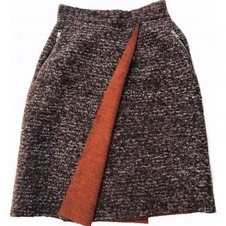 JC de CASTELBAJAC Brown Wool Skirt for Women