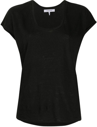 Frame scoop-neck fitted T-shirt