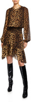A.L.C. Sidney Leopard-Print Asymmetrical Dress