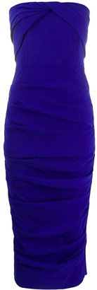 Alex Perry Ruched Strapless Dress