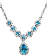 Lord & Taylor Blue Topaz Pendant Necklace