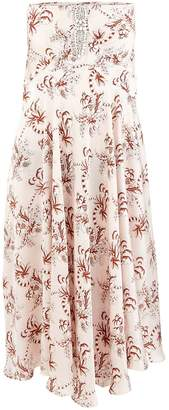 Paco Rabanne Long printed skirt