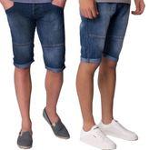 Kangol New Big Mens Punk Plus Size Summer Knee Length Denim Jeans Turnup Shorts