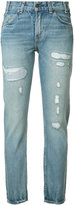 Levi's distressed high-rise jeans - women - Cotton - 24